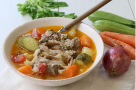 Osso buco meat soup